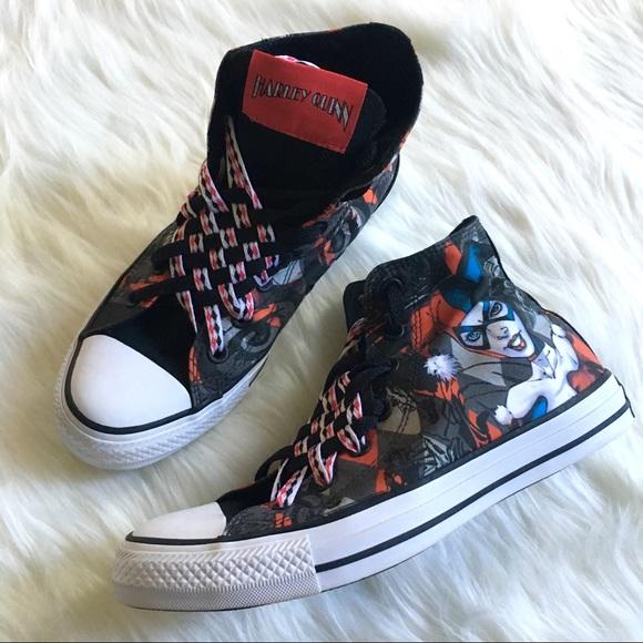 5358dcac6de1 Converse Shoes - High Top Converse Harley Quinn Women s Size 8